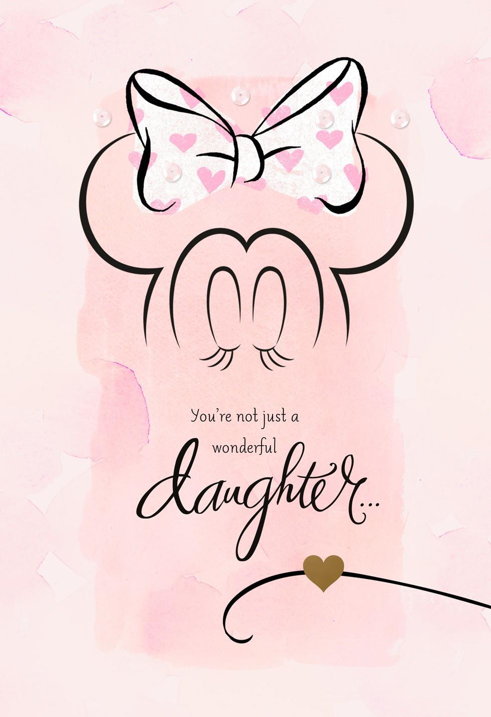 Minnie Mouse Valentines Card For Daughter Greeting