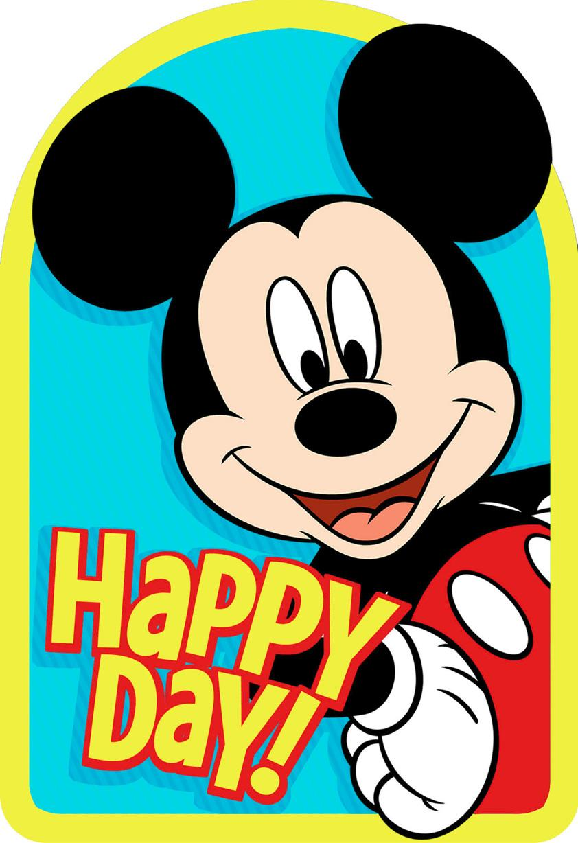 Mickey Mouse Best Day Ever Birthday Card Greeting Cards