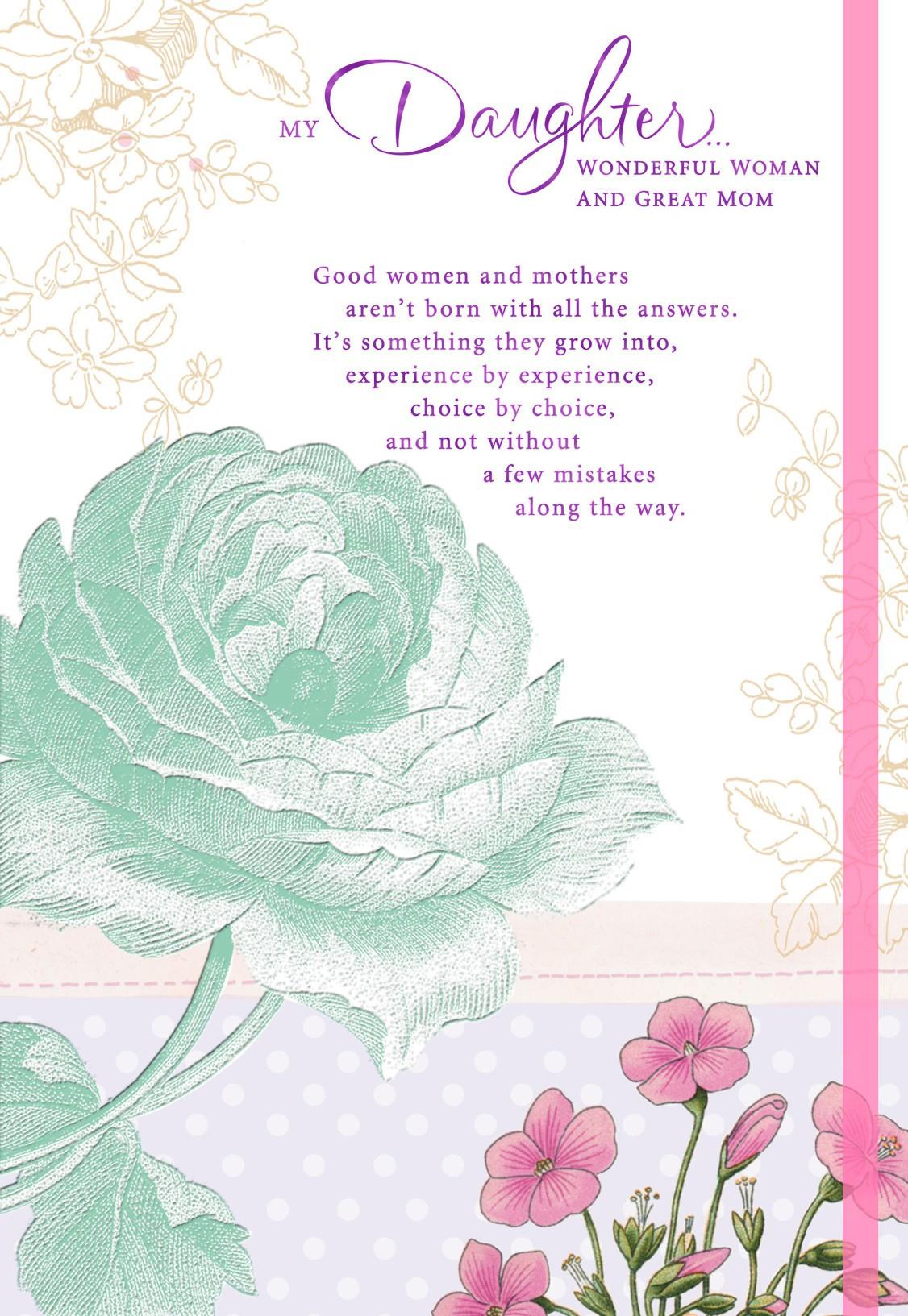You're A Remarkable Mother Mother's Day Card For Daughter