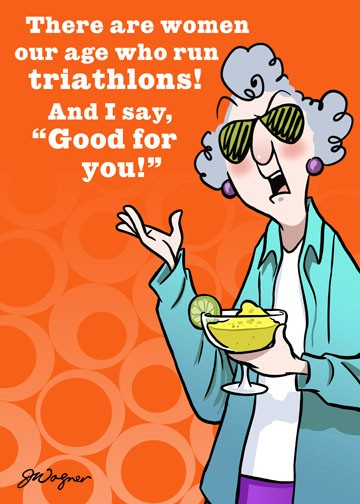 Triathlon Or Try A Margarita Funny Birthday Card