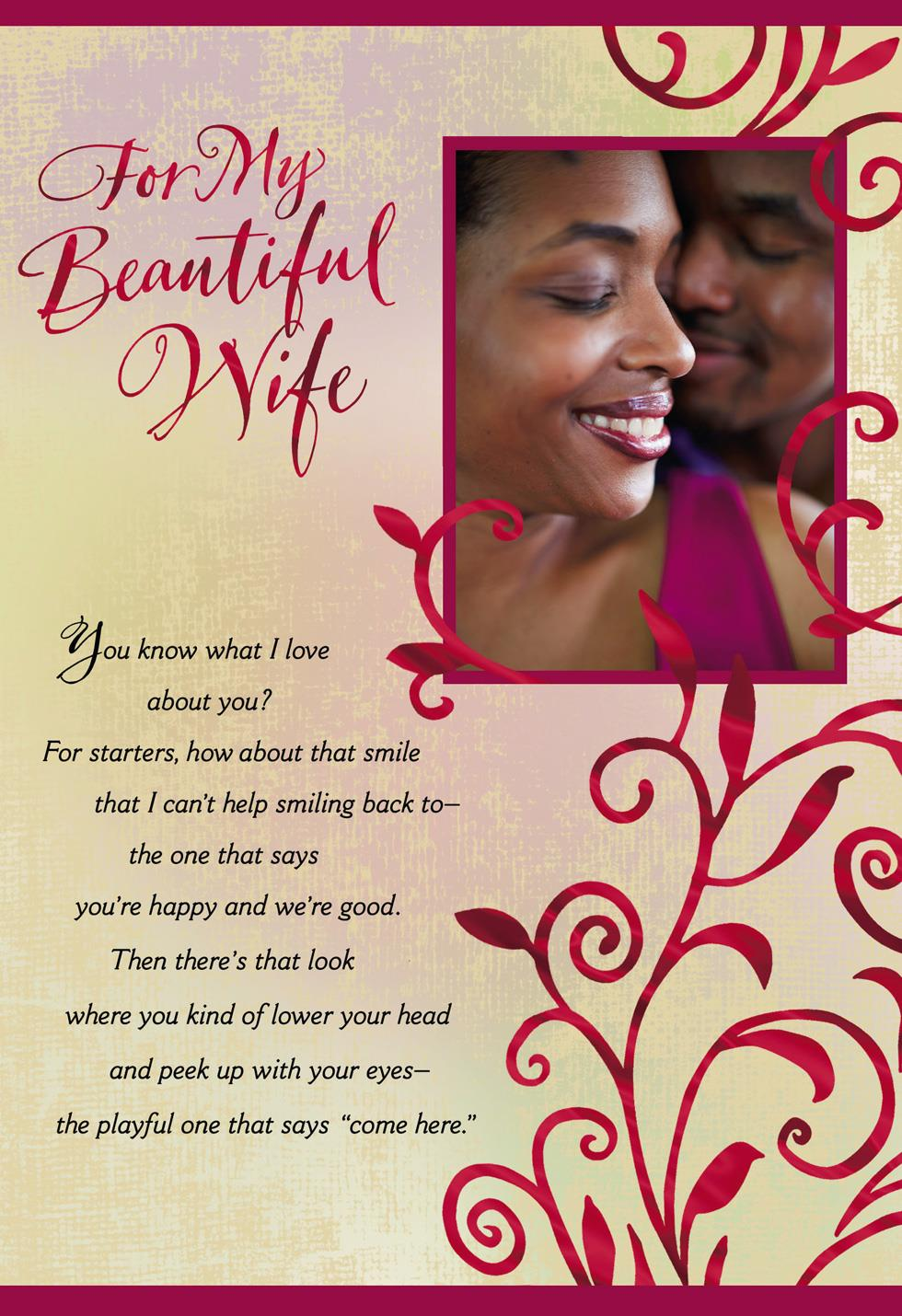 All I Want Wife Birthday Card Greeting Cards Hallmark