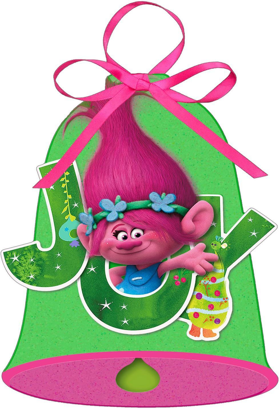 DreamWorks Trolls Poppy Bell Christmas Card Greeting