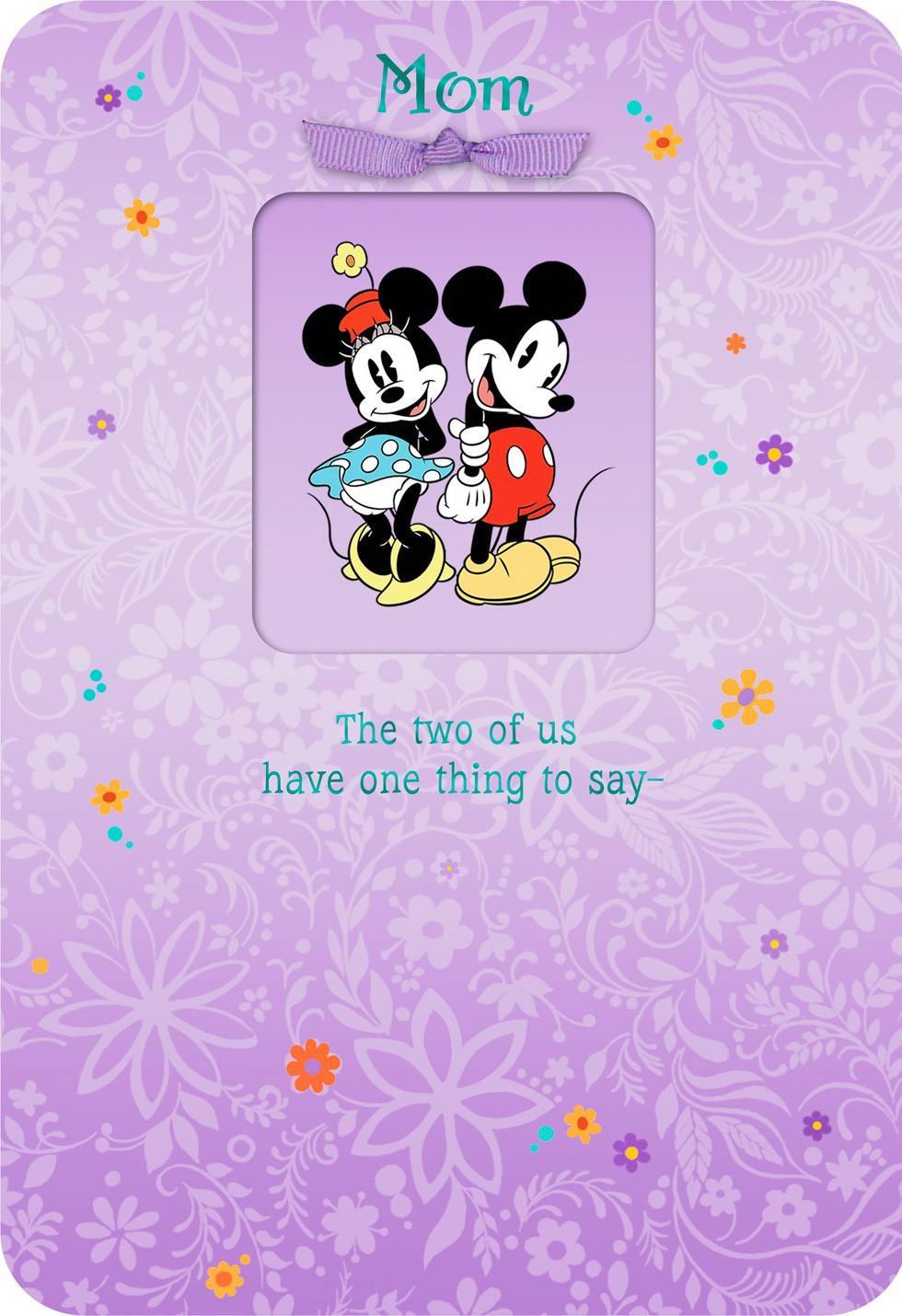 Mickey And Minnie We Love You Mom Birthday Card