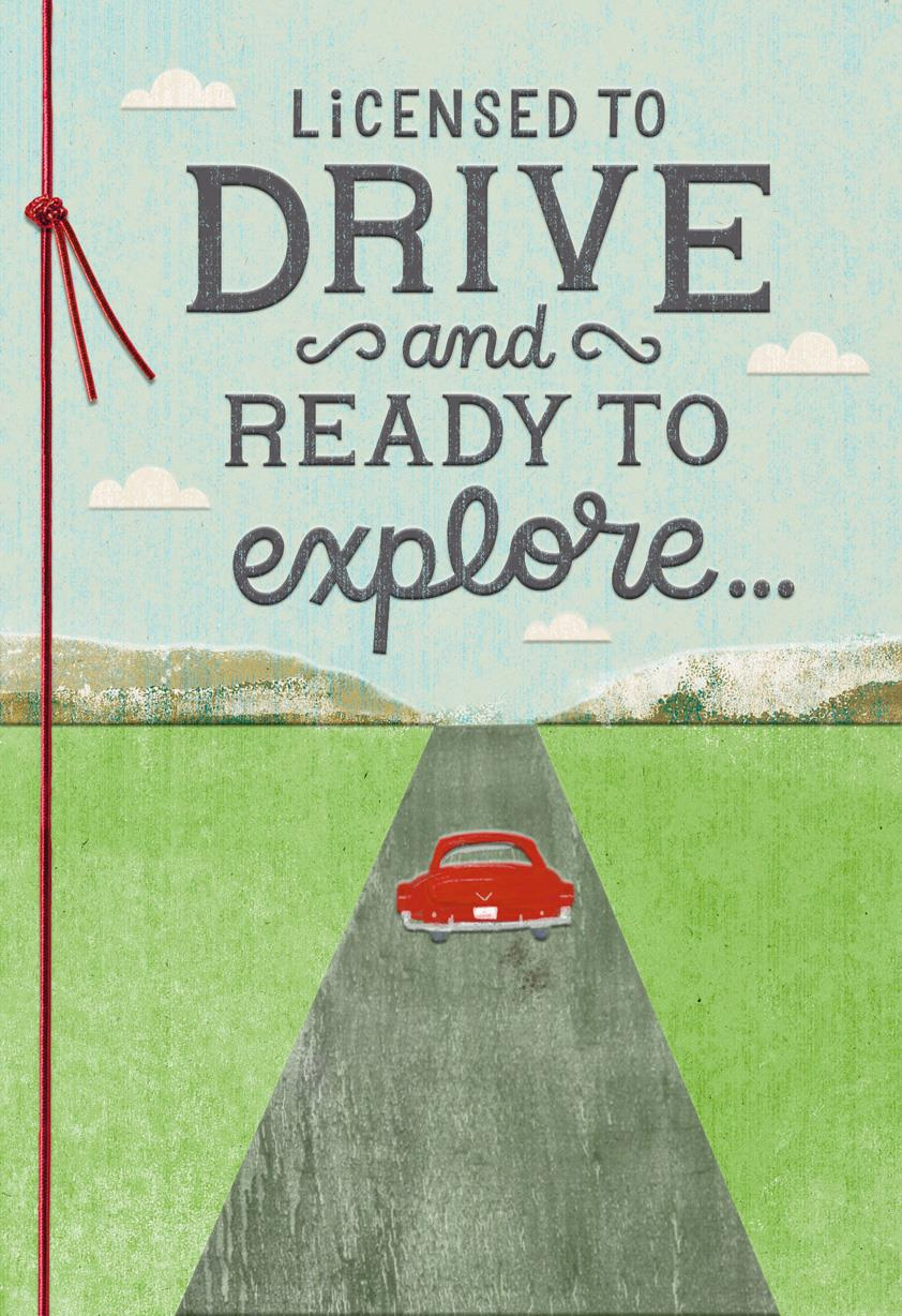 Enjoy The Ride Driver's License Congratulations Card