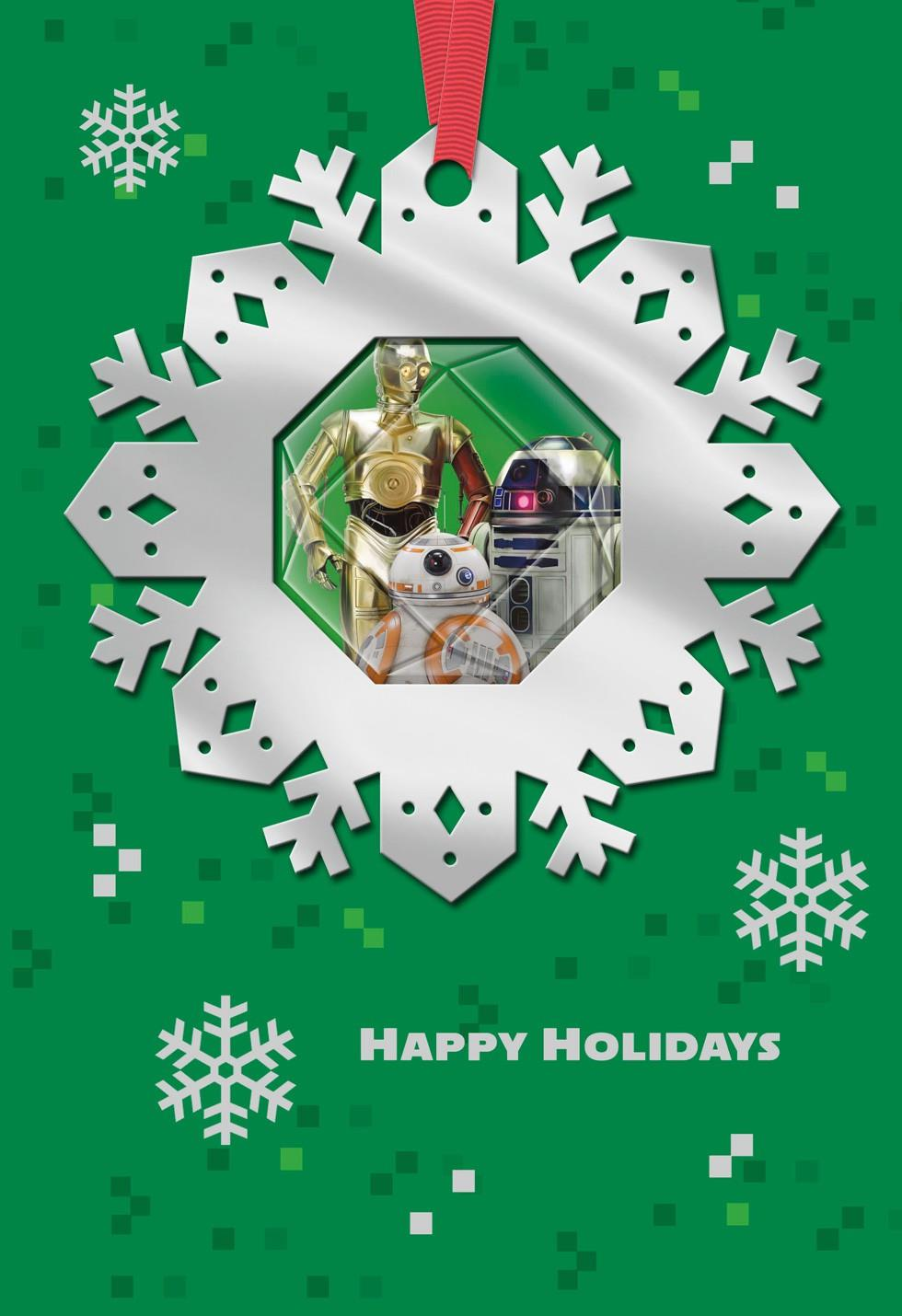Star Wars Droids Christmas Card With Ornament Greeting