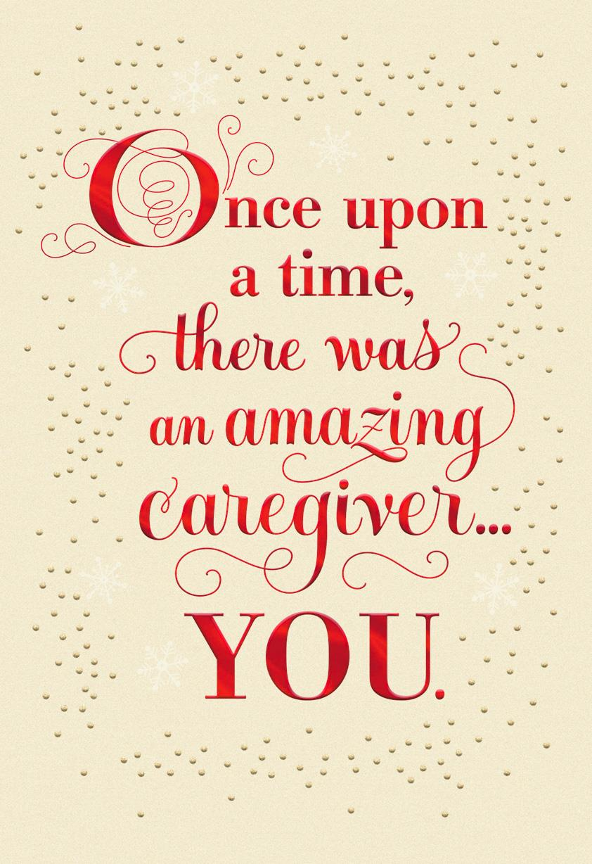 Once Upon A Time Christmas Card For Caregiver Greeting