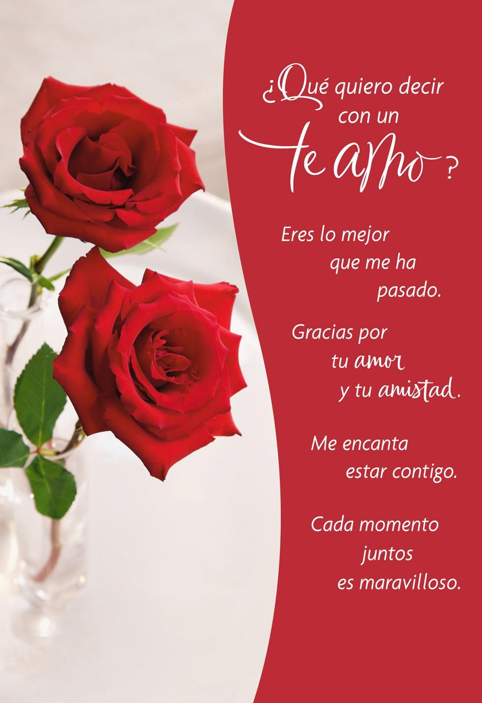 Wonderful Moments Spanish Valentines Day Card Greeting
