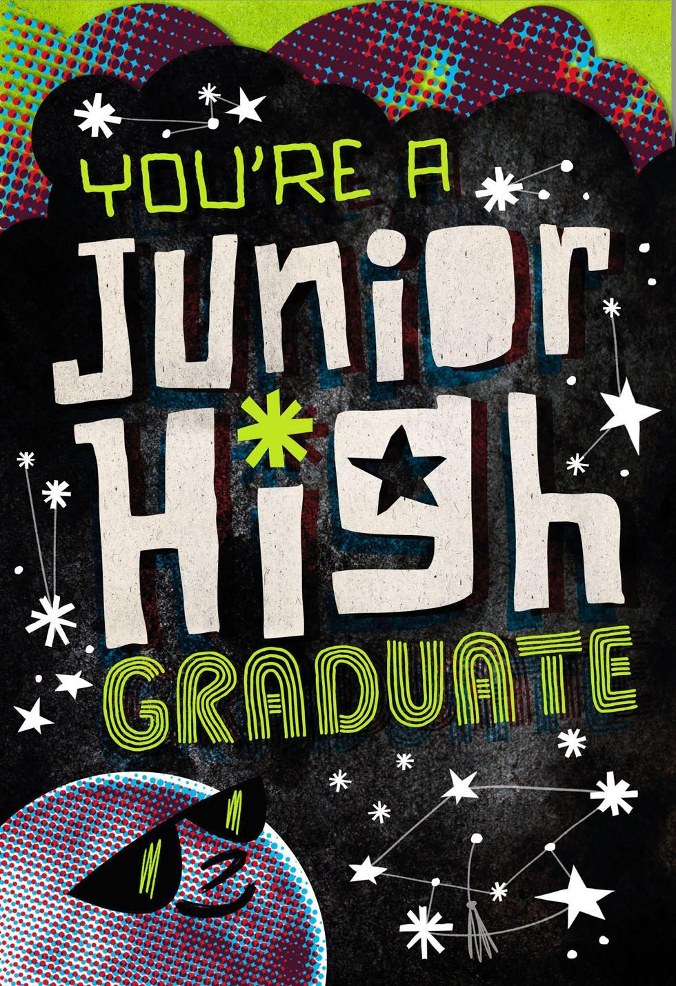 Youre A Junior High Graduate Greeting Card Greeting