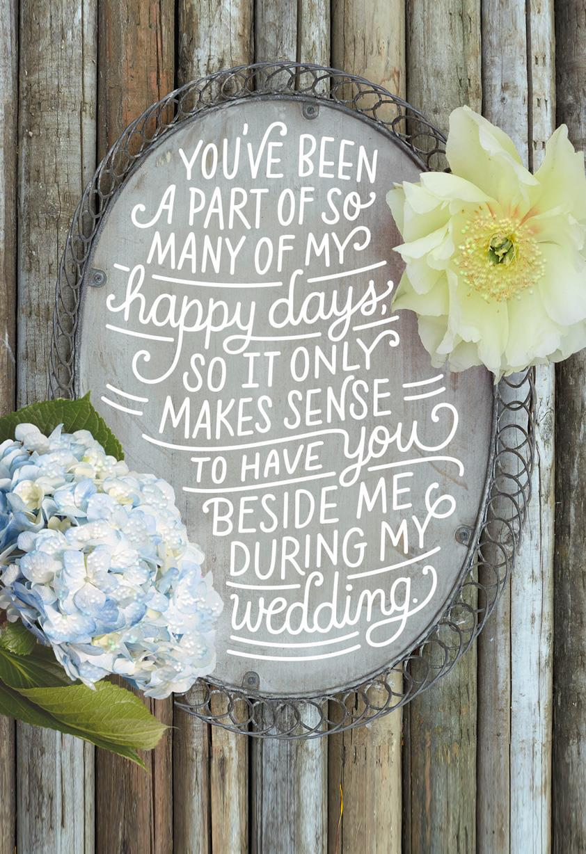 Rustic Bridal Party Proposal Wedding Card Greeting Cards