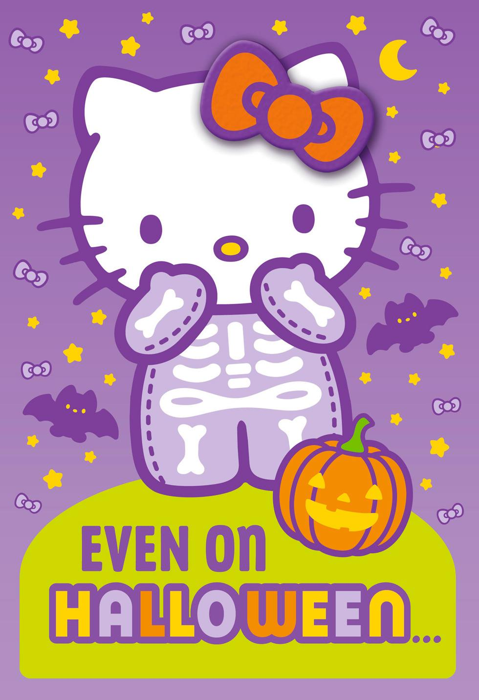 Hello Kitty® Cute Is Always In Style Halloween Card With