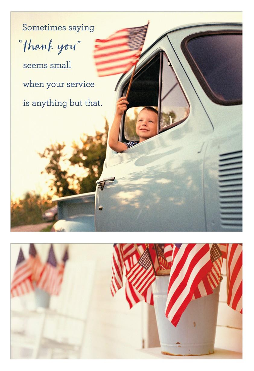 Sacrifice and Service Religious Veterans Day Card  Greeting Cards  Hallmark