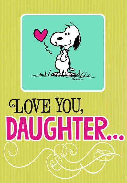 Snoopy Hug For Daughter Birthday Card Greeting Cards