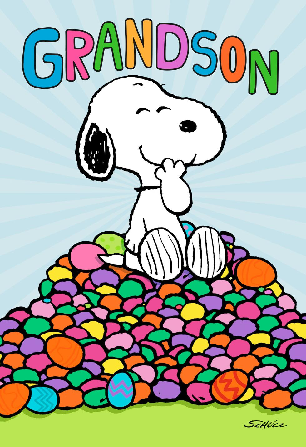 Peanuts® Snoopy Sweet Stuff Easter Card For Grandson