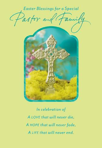 Pastor And Family Religious Easter Card Greeting Cards