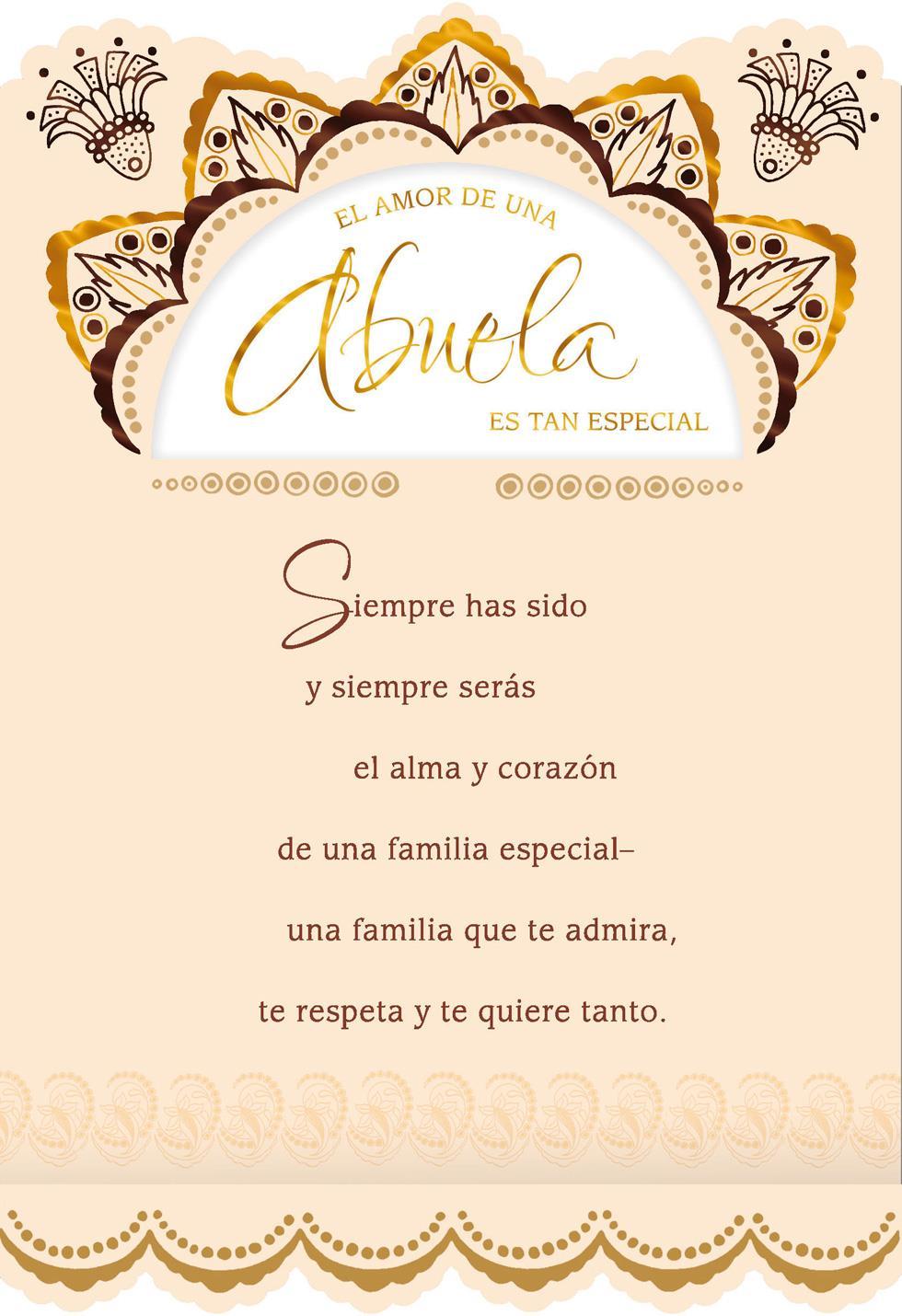 Love Of A Grandmother Spanish Language Birthday Card