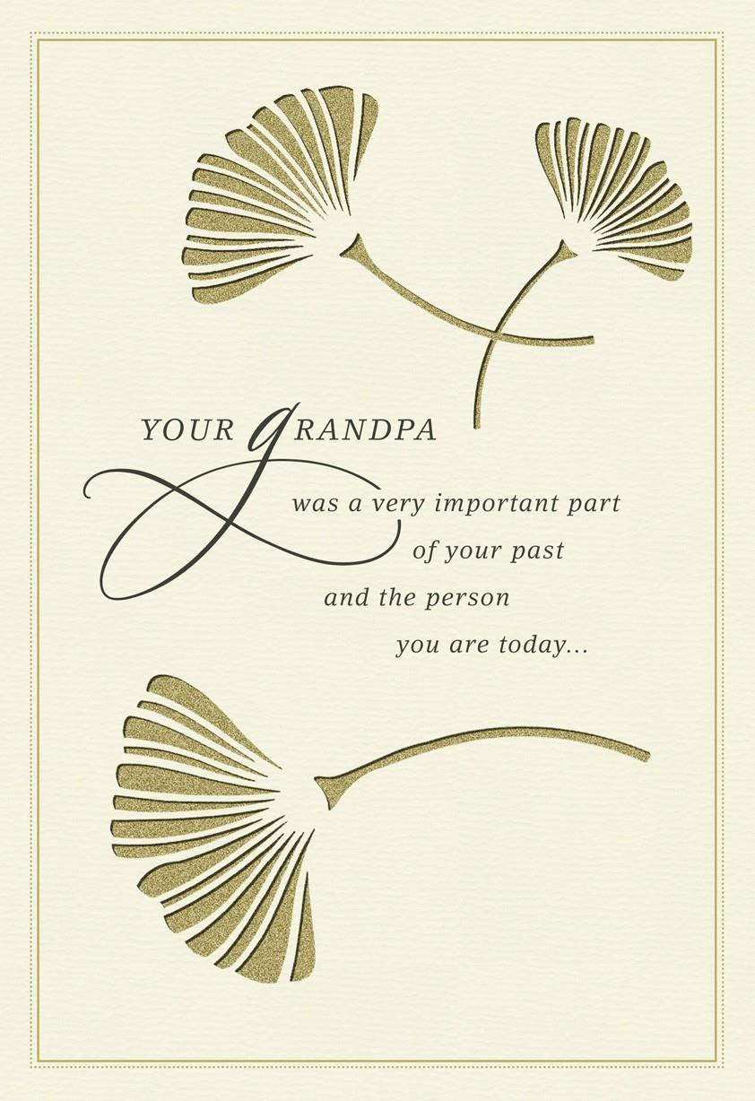 On The Loss Of Your Grandpa Sympathy Card Greeting Cards