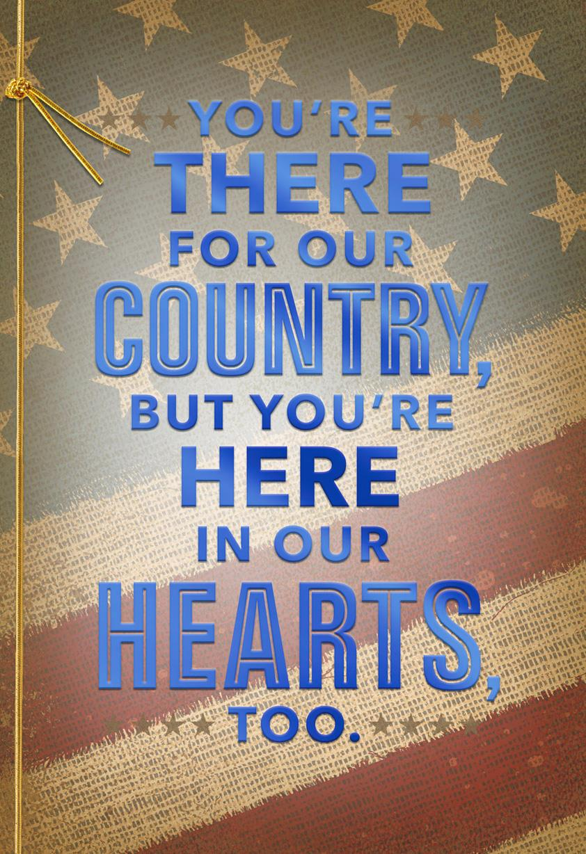 There For Our Country Military Appreciation Card