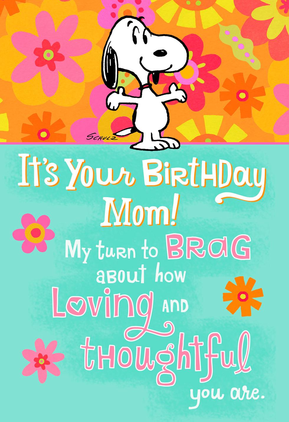 Peanuts® Snoopy Bragging Rights Funny Pop Up Birthday Card