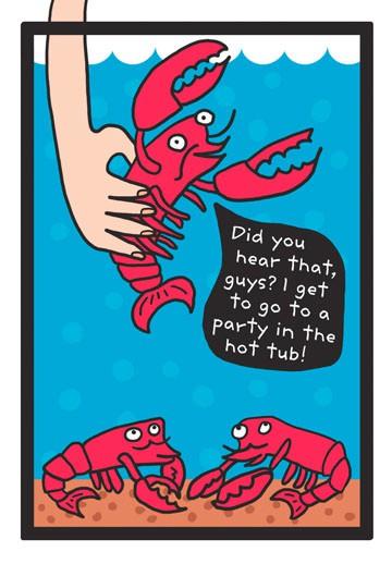 Hot Tub Party Birthday Card Greeting Cards Hallmark