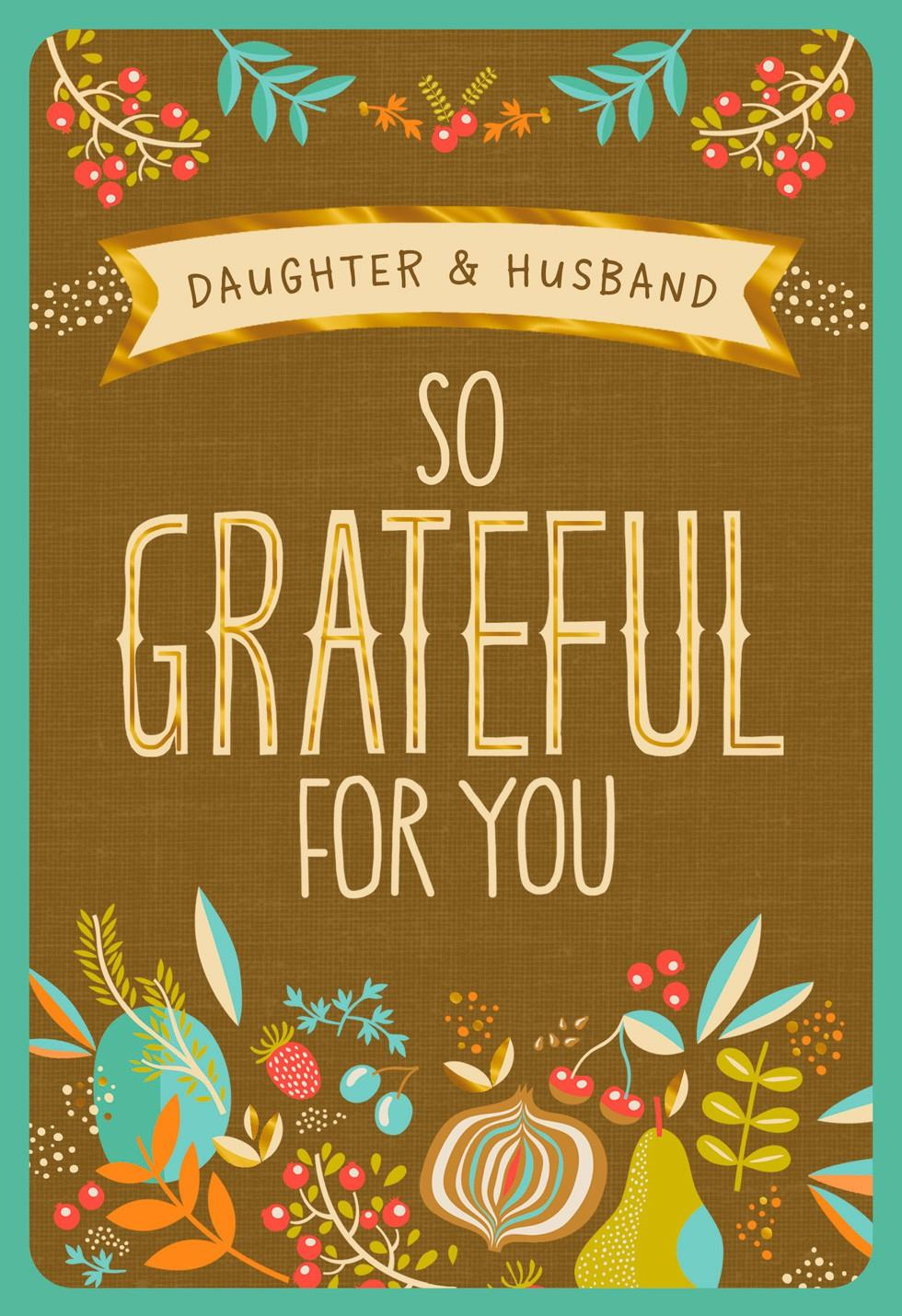 So Grateful For You Thanksgiving Card With Customizable