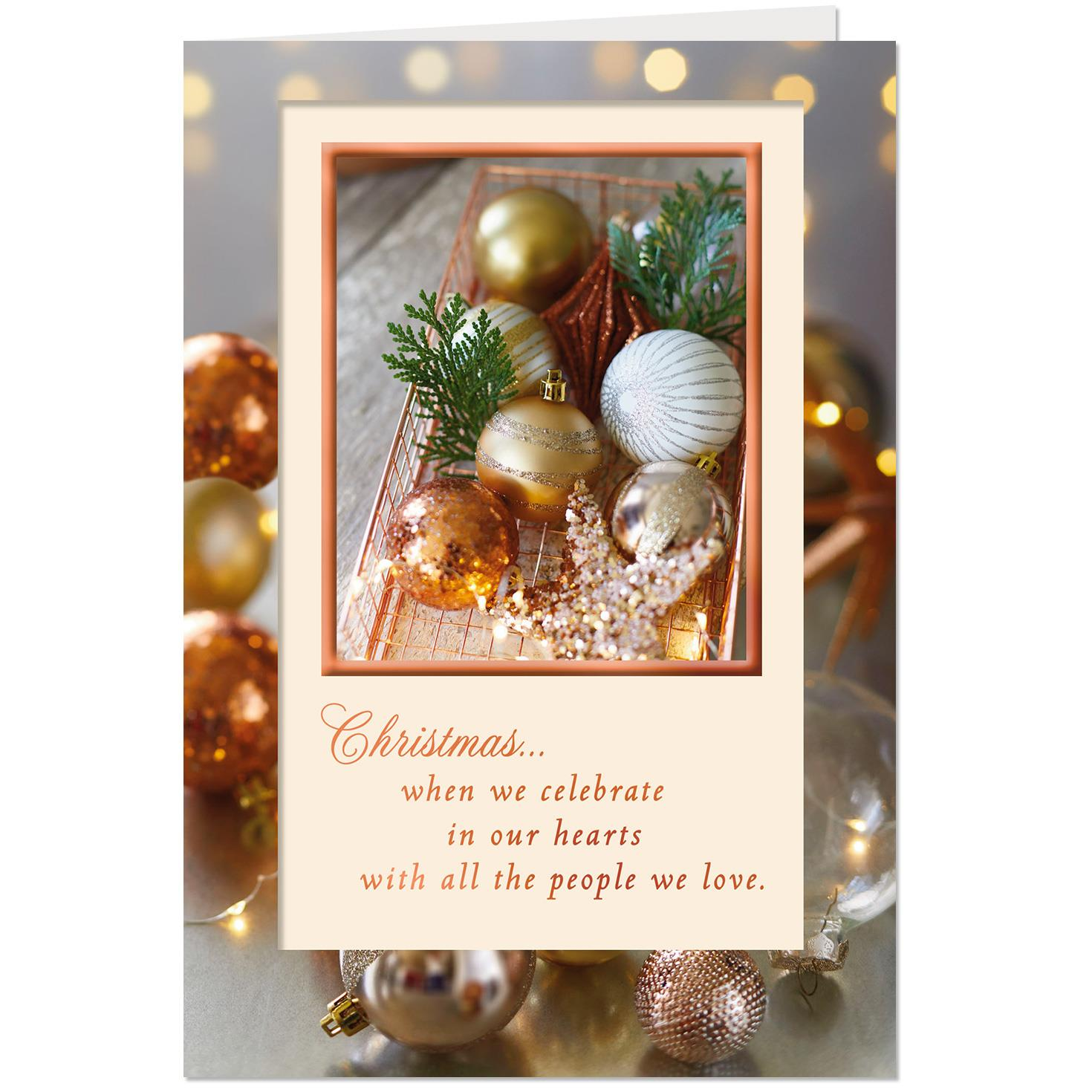 Celebrating The People We Love Christmas Card Greeting