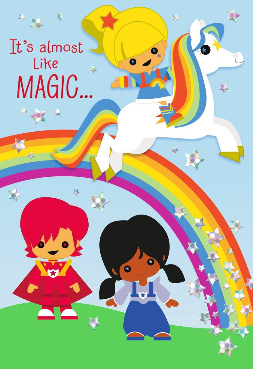 Rainbow Brite And Friends Stylized Coloring Card With