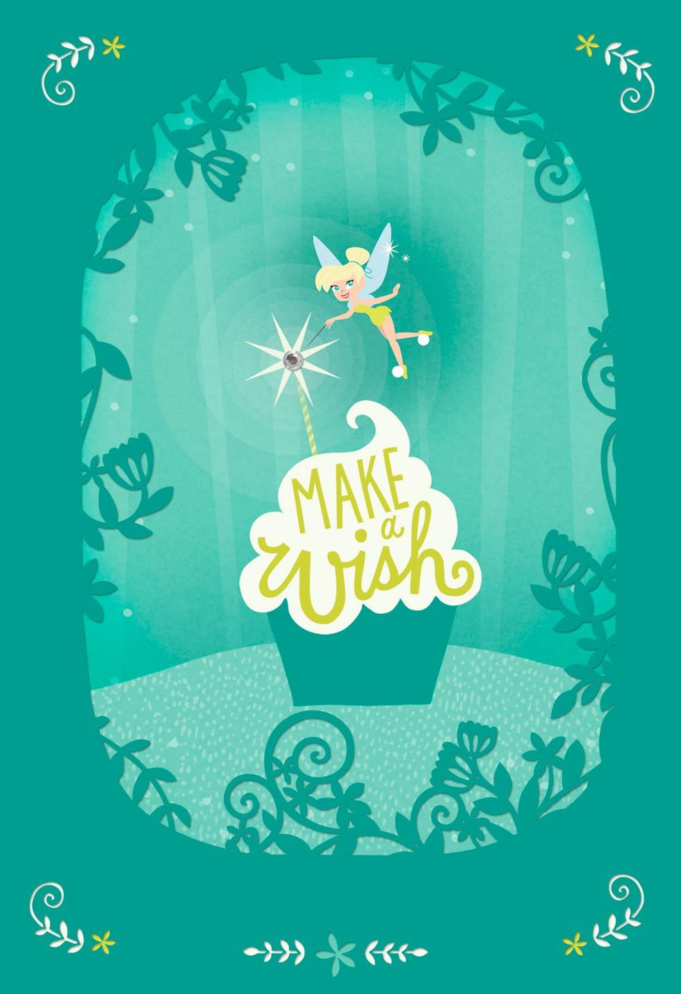 Make A Wish Daughter Tinker Bell Birthday Card Greeting