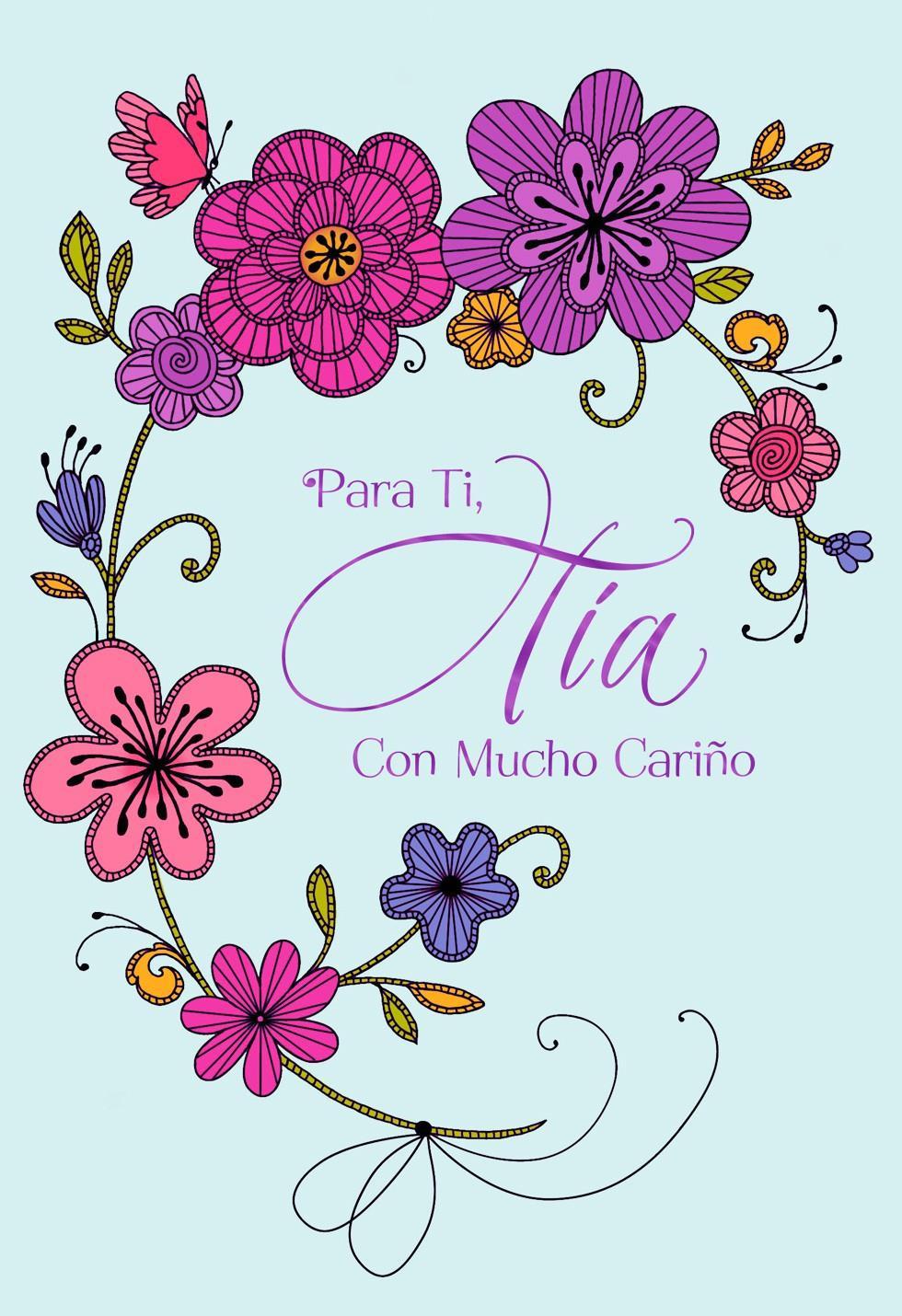 Feliz Día De Las Madres Para Mi Tía Greeting Cards
