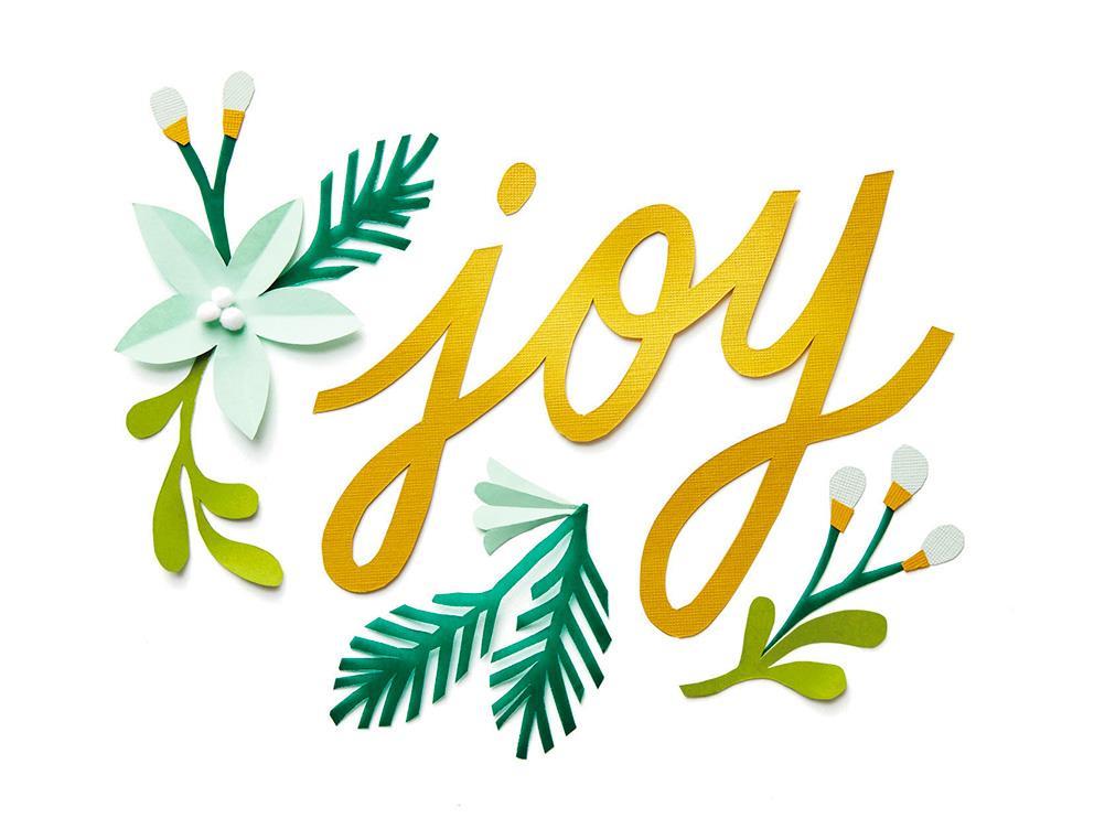 Joy Floral Christmas Card Greeting Cards Hallmark