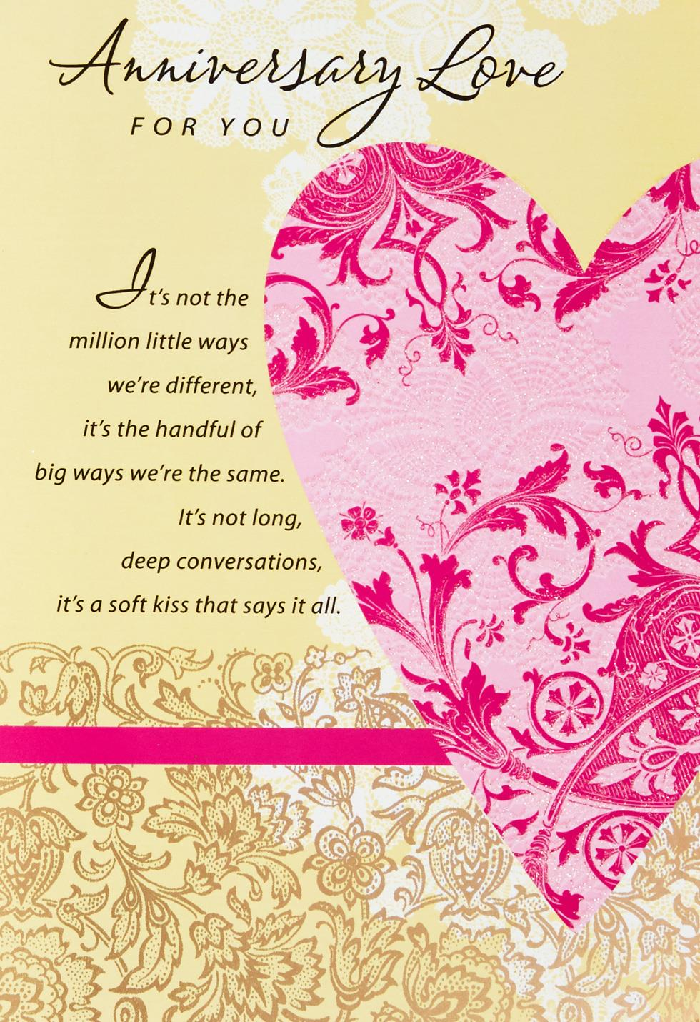 Love You More Each Day Anniversary Card Greeting Cards