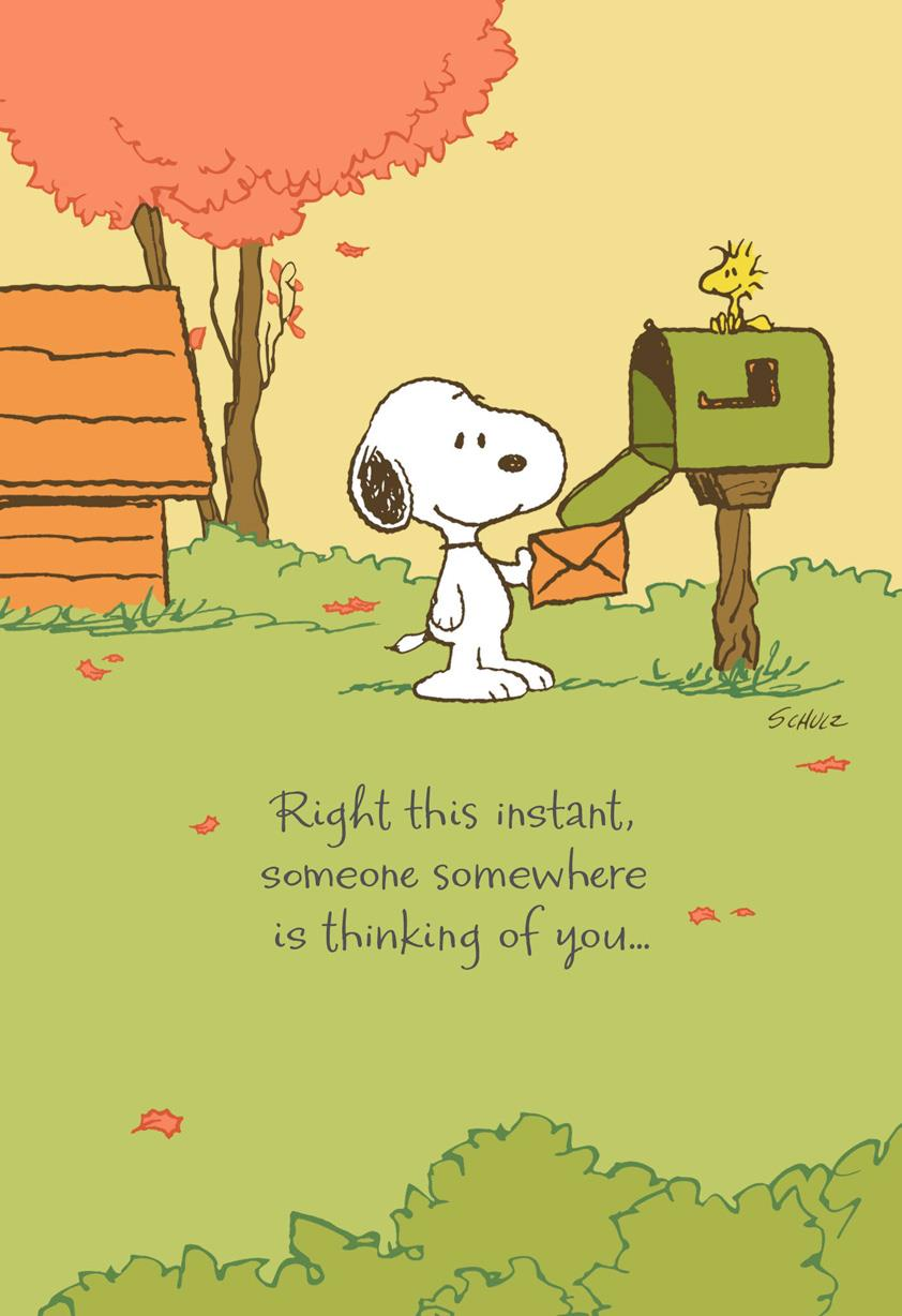 Peanuts® Snoopy™ Missing You Thanksgiving Card Greeting