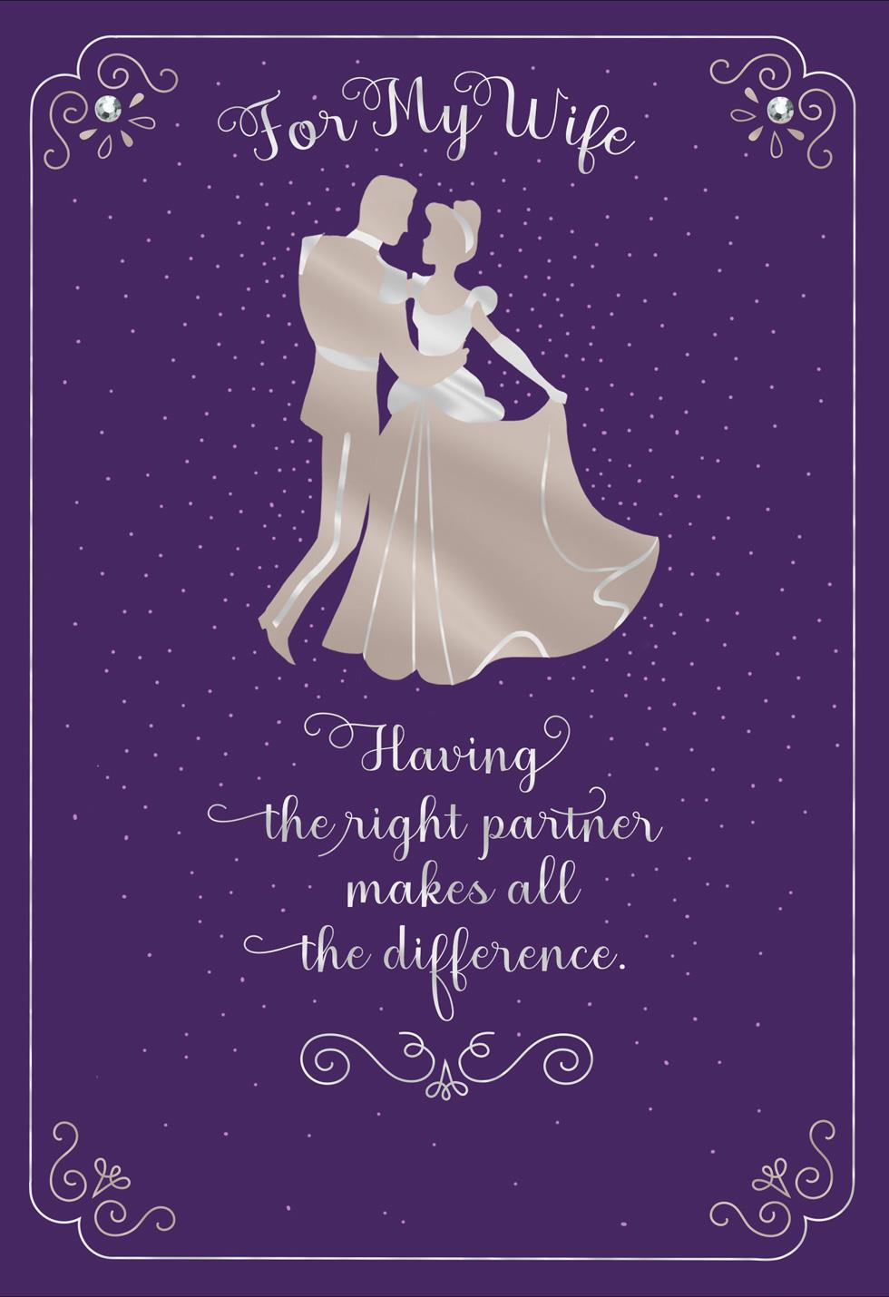 Disney Cinderella And Prince Charming Birthday Card For
