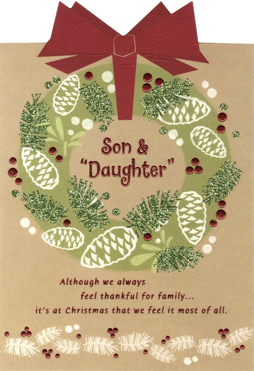"Grateful For You Son And ""Daughter"" Christmas Card End"