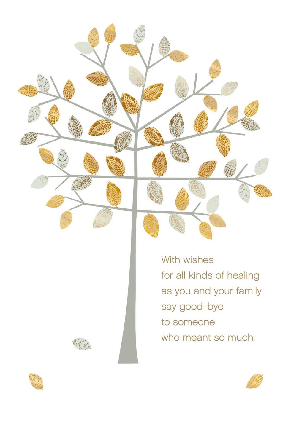 Healing Wishes Sympathy Card Greeting Cards Hallmark