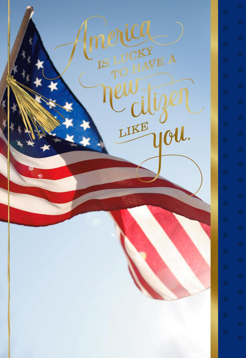Congratulations Card for Your American Citizenship