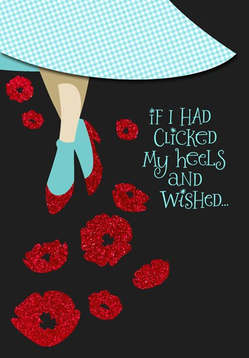 The Wizard Of Oz™ Ruby Slippers™ Friend Birthday Card