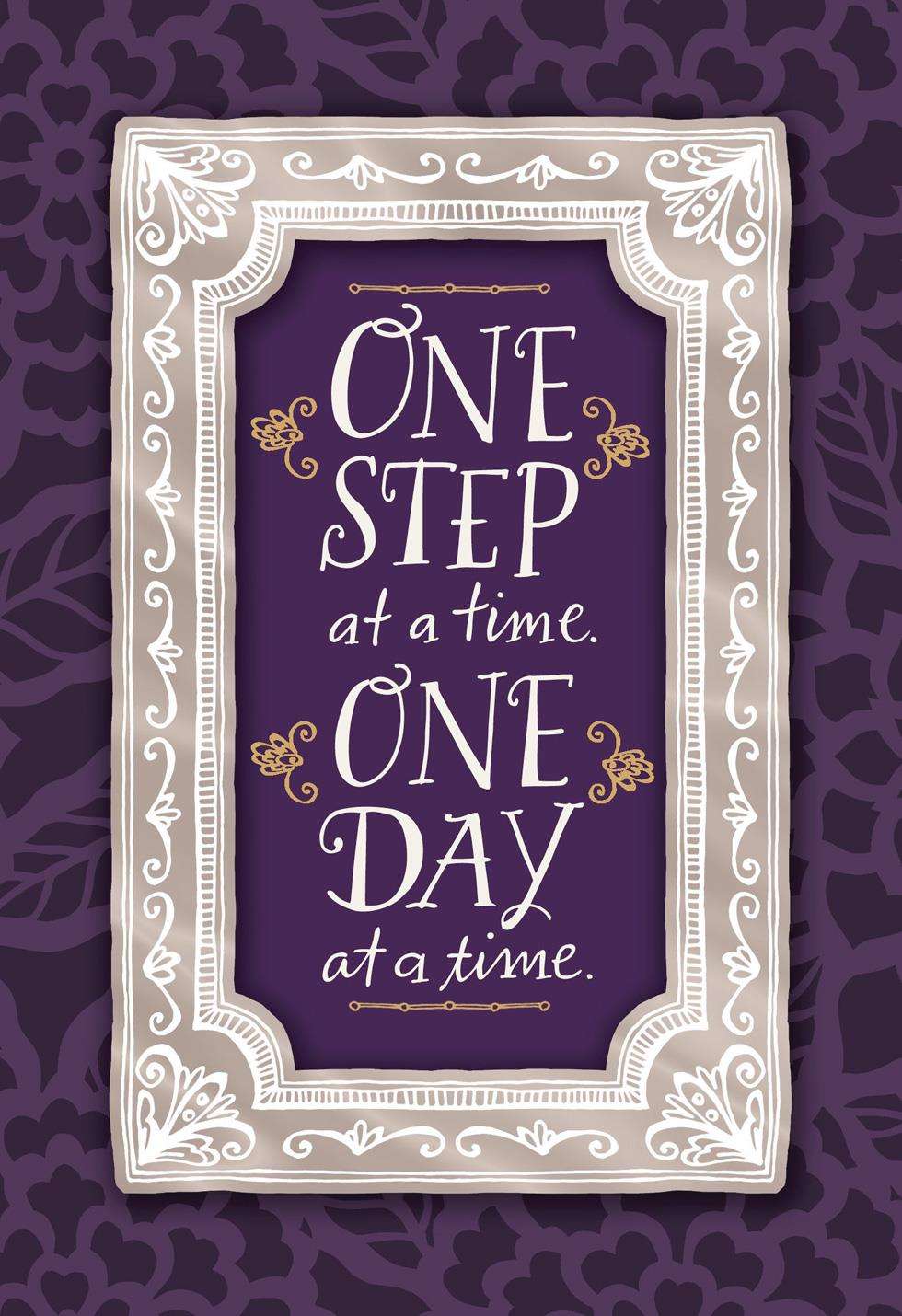 One Day At A Time Encouragement Card Greeting Cards