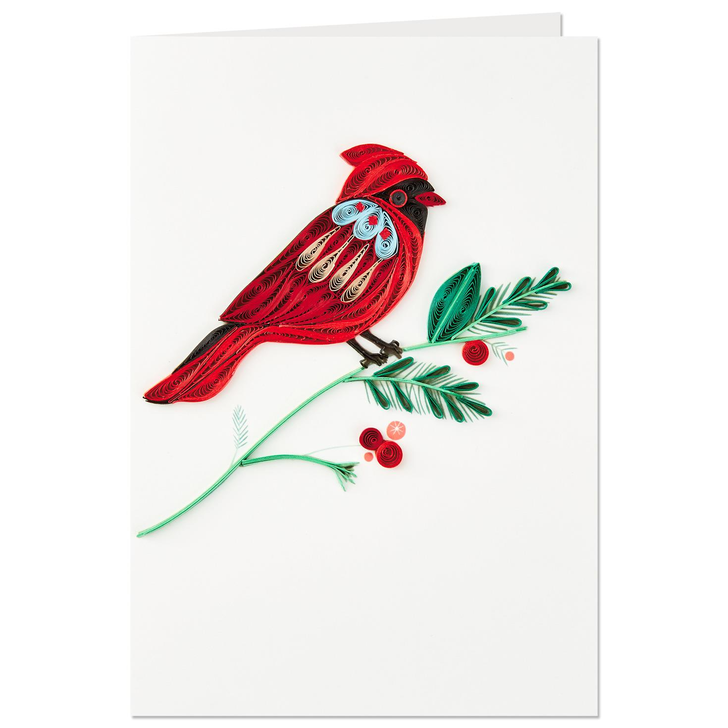 Cardinal Bird Frameable Art Christmas Card Greeting
