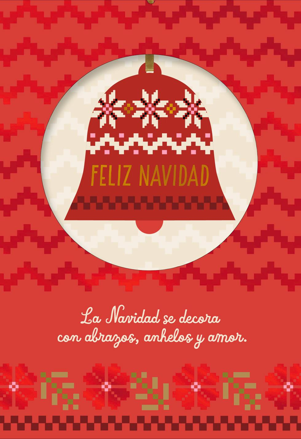 Peace And Joy Spanish Language Christmas Card With