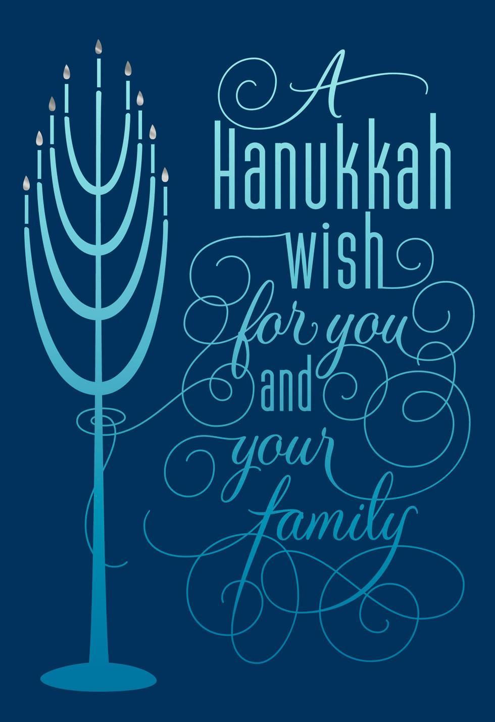 Menorah Lights Hanukkah Card Greeting Cards Hallmark