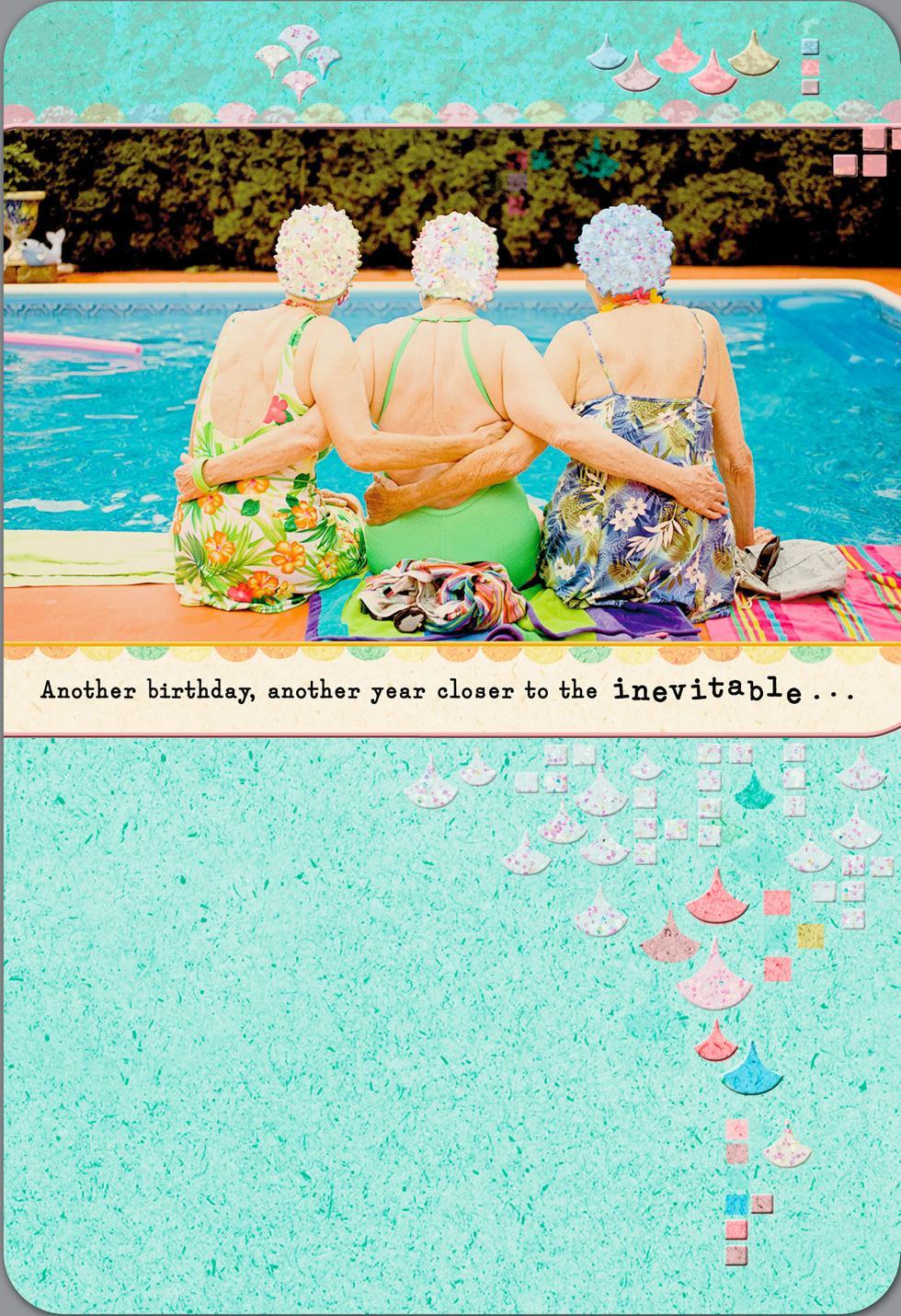 Swim Cap Ladies Funny Birthday Card Greeting Cards Hallmark