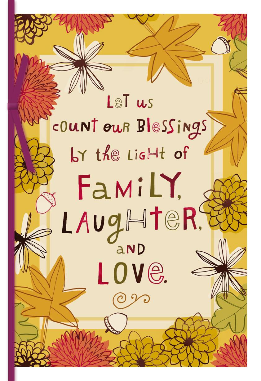 Family Love And Laughter Thanksgiving Card Greeting