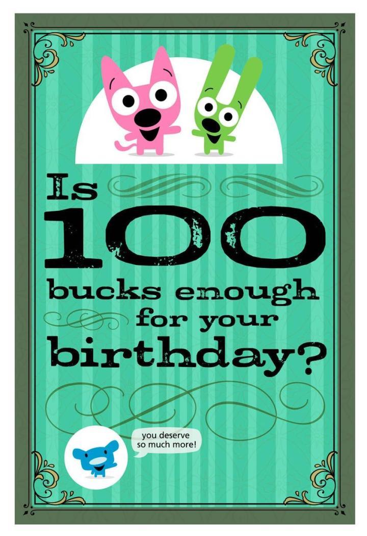 Free hallmark hoops and yoyo birthday cards poemview hoops yoyo 100 bucks funny birthday sound card greeting cards m4hsunfo