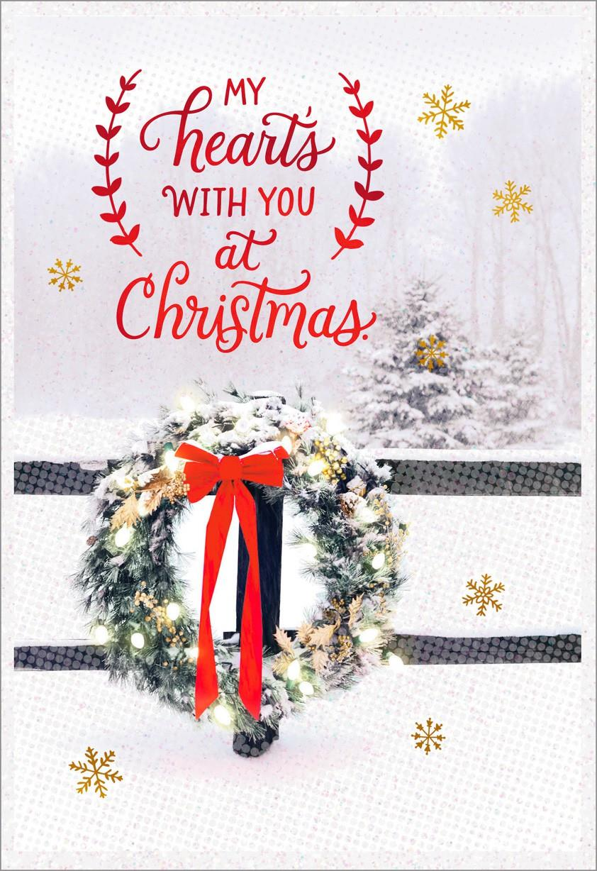 Missing You At Christmas Greeting Card Greeting Cards
