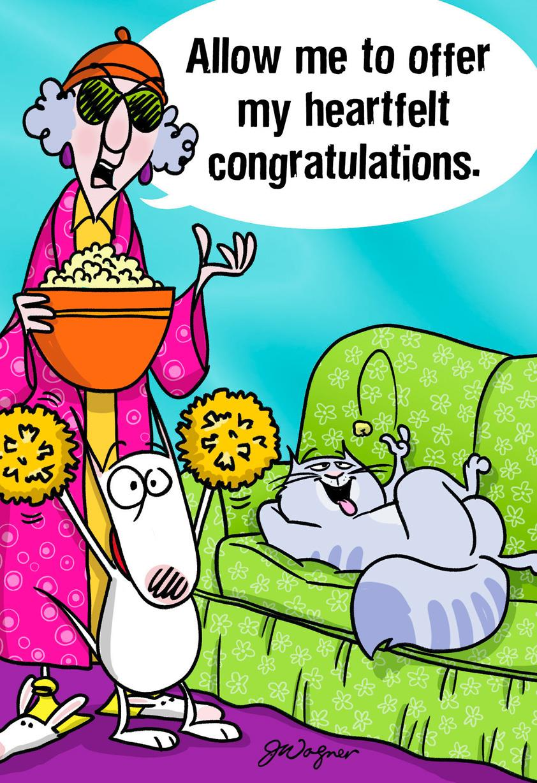 Maxine Hot Damn Funny Congratulations Card Greeting