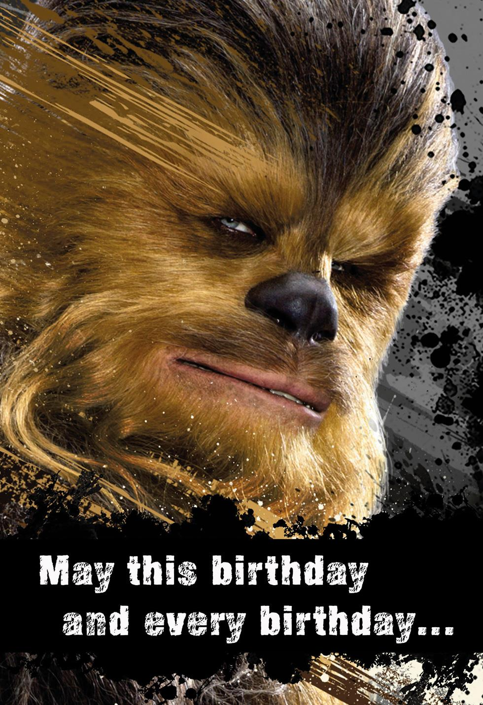 Star Wars Chewbacca Good Hair Day Birthday Sound Card  End of Life  Hallmark