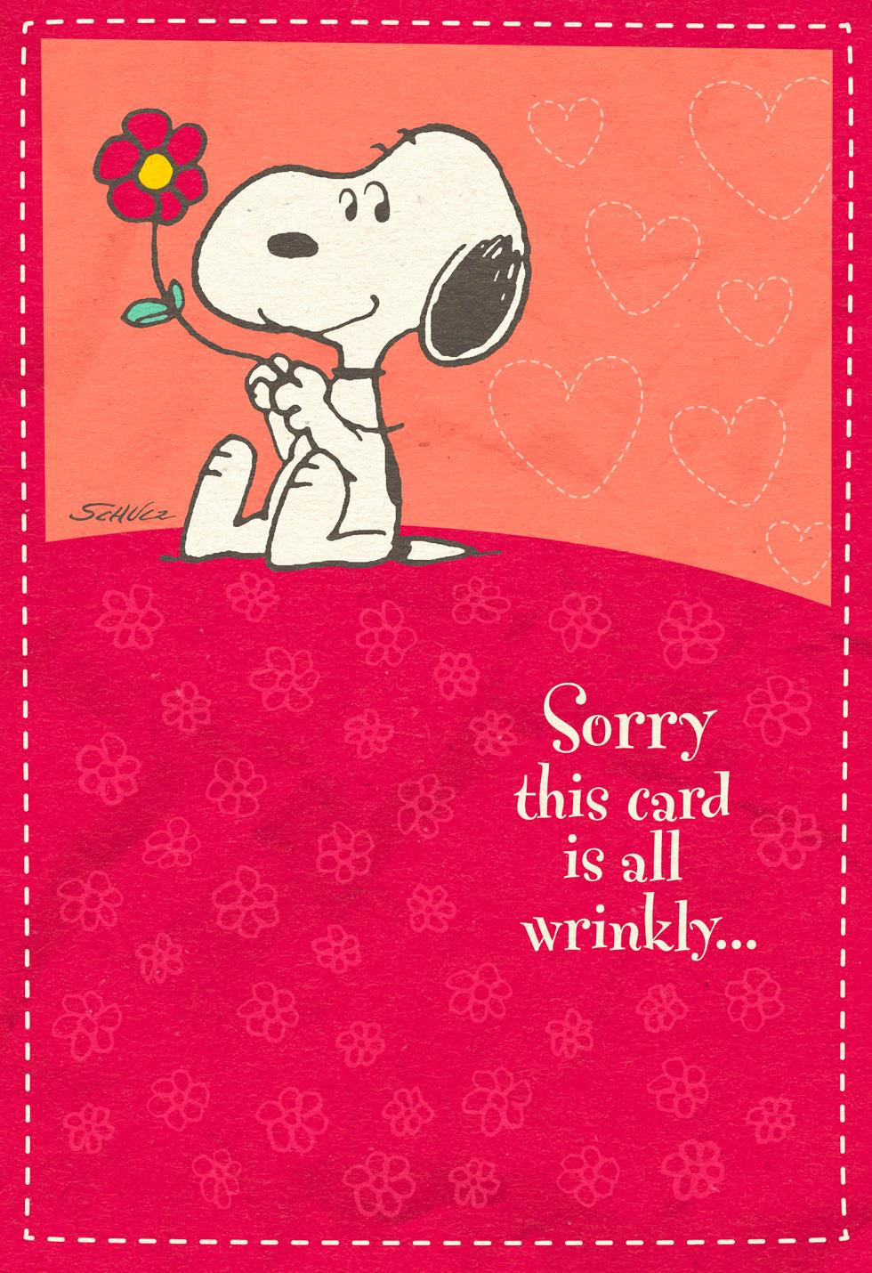 Hugs In The Mail Peanuts® Snoopy Sweetest Day Card