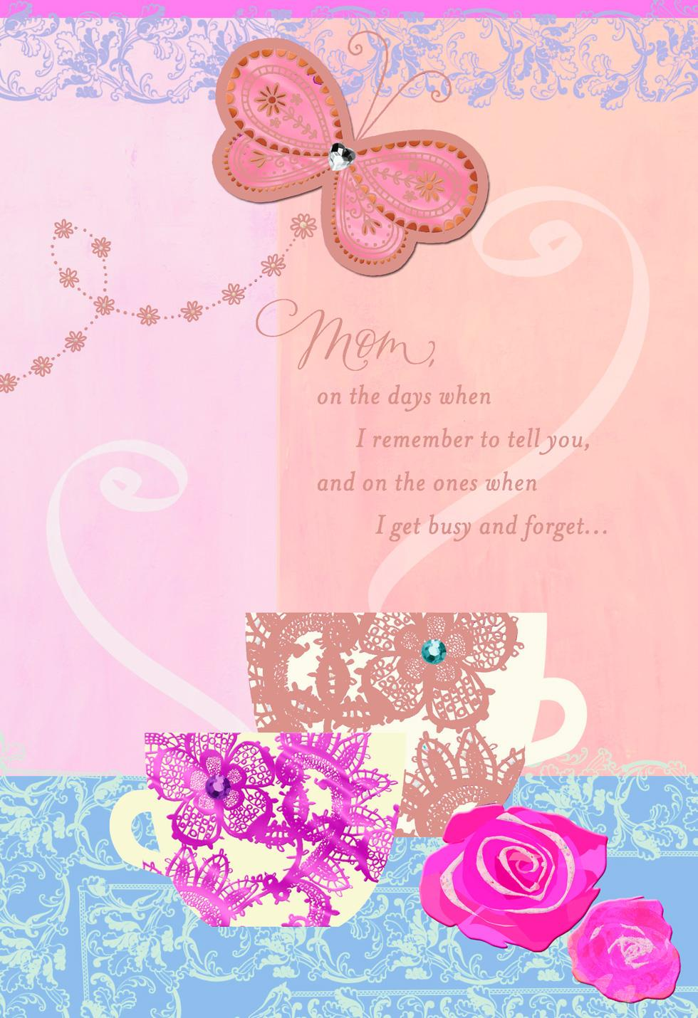 Wonderful Mom And Grandma Birthday Card For Mom Greeting