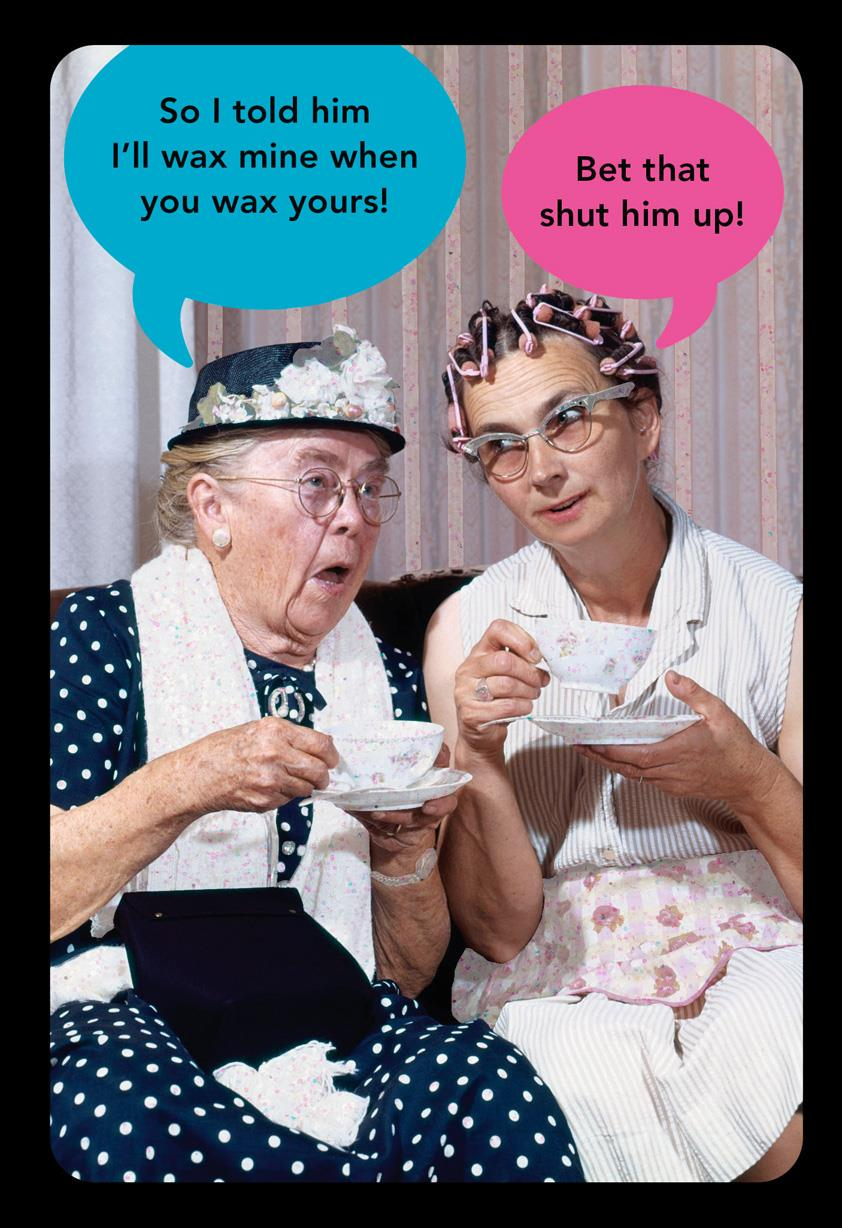 Old Ladies Waxing Funny Birthday Card Greeting Cards