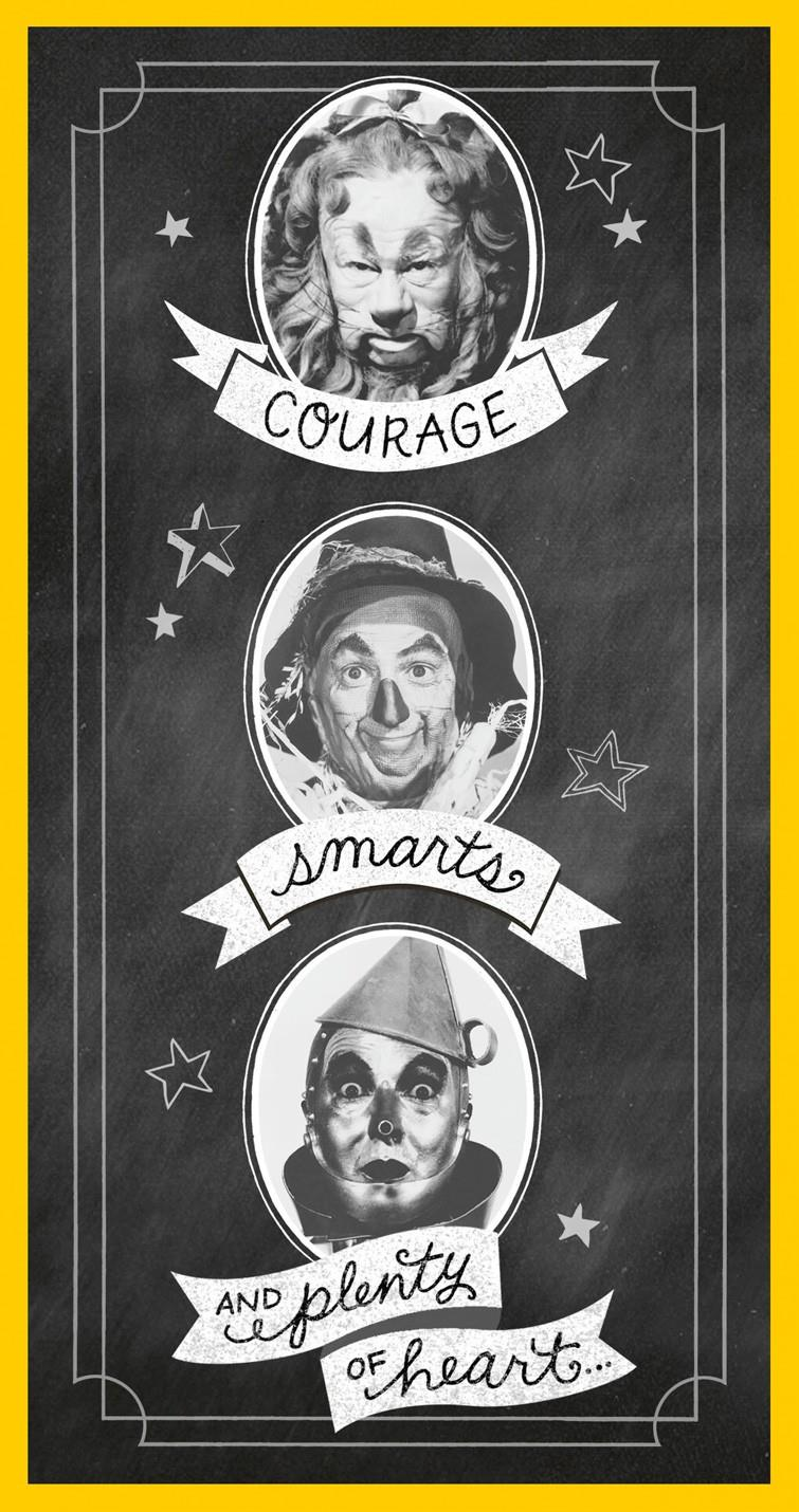 The Wizard Of Oz Courage Smarts And Heart Graduation Money Holder Card Greeting Cards Hallmark